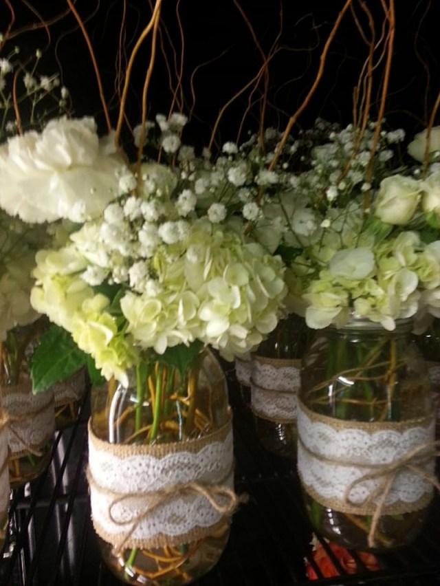 Mason Jar Decorations For A Wedding Mason Jar Centerpieces Lulus Flowers