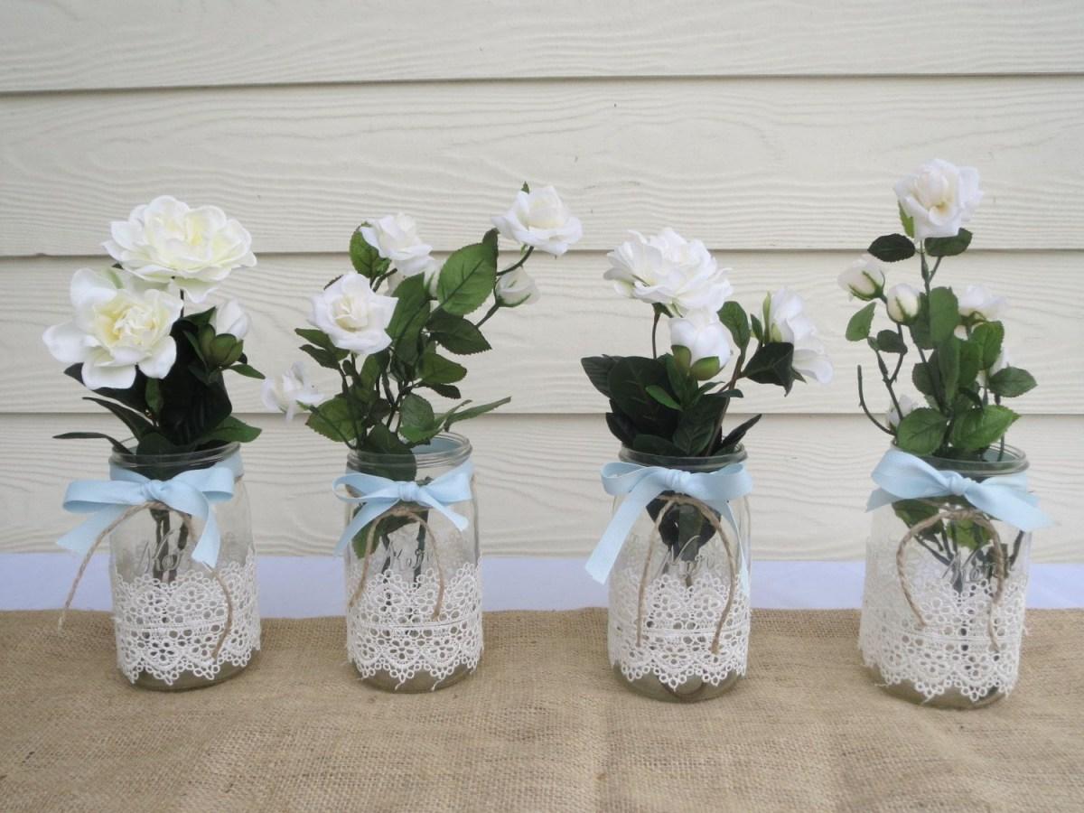 Mason Jar Decorations For A Wedding Reusable Wedding Decorations Nucno