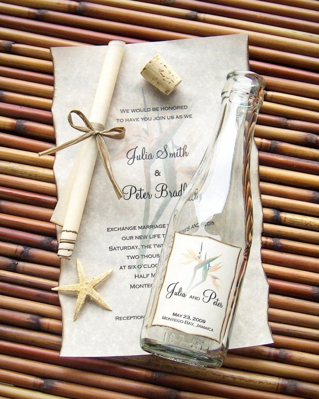 Message In A Bottle Wedding Invitations Message In A Bottle Wedding Invitations What A Cute Idea For A
