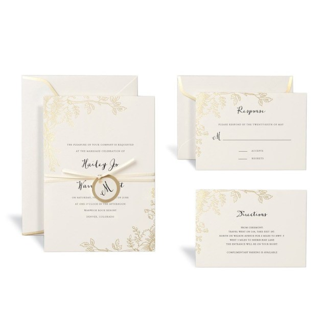 Michaels Wedding Invites Floral Gold Wedding Invitation Kit Celebrate It Wedding Ideas