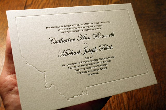 Michaels Wedding Invites Letterpress Wedding Invitation Kate Bosworth Spiffy Press Sta