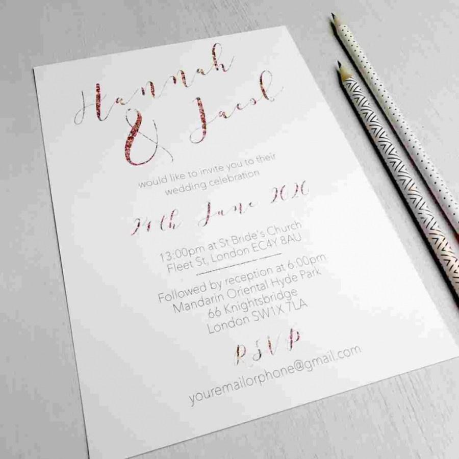 Mint Green Wedding Invitations Mint Black White And Rose Gold Wedding Invitations Greenblack And
