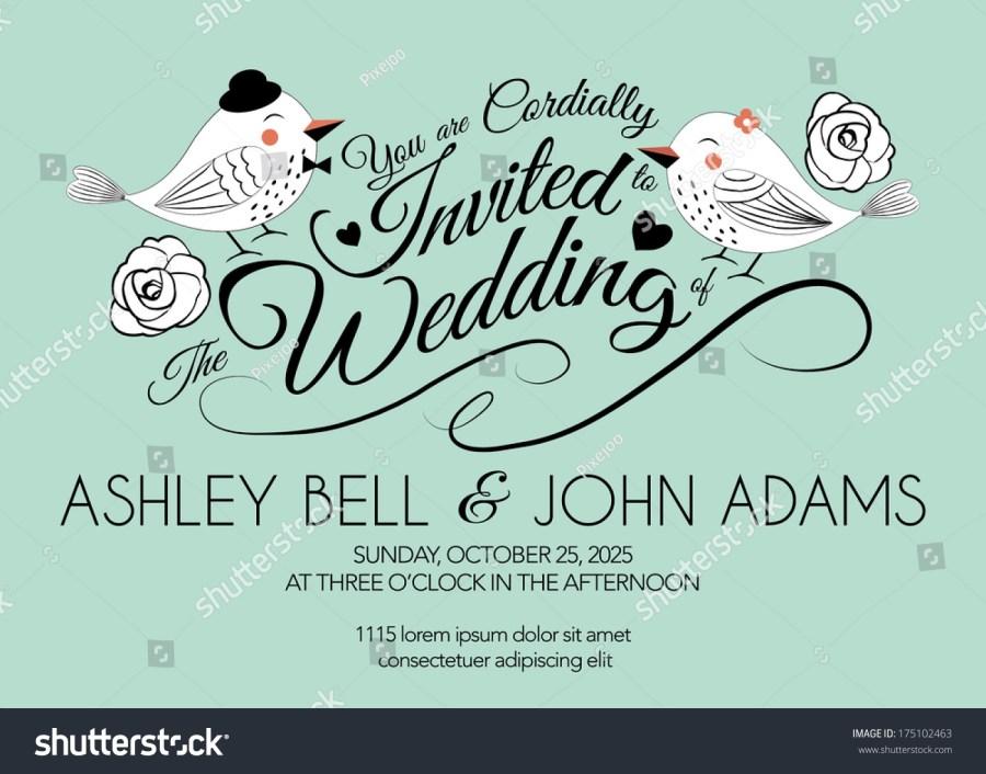 Mint Green Wedding Invitations Wedding Invitation Card Bird On Mint Stock Vector Royalty Free