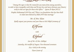 Muslim Wedding Invitations Wedding Invitation Wording For Muslim Wedding Ceremony Muslim
