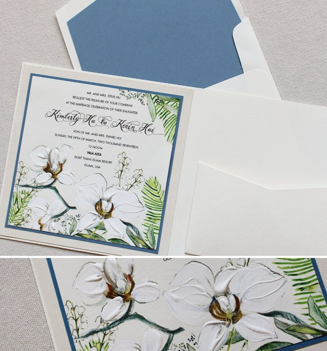 Orchid Wedding Invitations Kim H Tropical Orchid Wedding Invitationmomental Designs