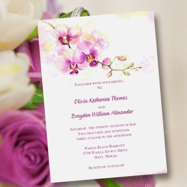 Orchid Wedding Invitations Orchid Wedding Invitations New Printable Wedding Invitation Template