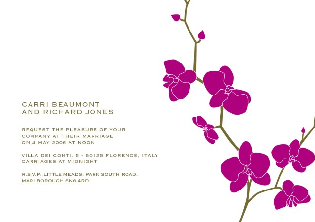 Orchid Wedding Invitations Orchid Wedding Invitations Orchid Wedding Invitations For Best