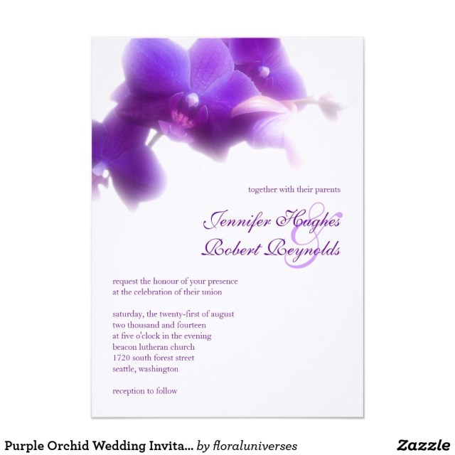 Orchid Wedding Invitations Purple Orchid Wedding Invitation Best Wedding Stuff Wedding