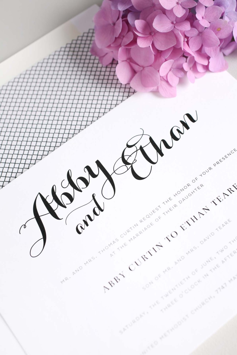 Orchid Wedding Invitations Romantic And Simple Wedding Invitations In Purple Wedding Invitations
