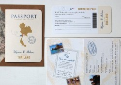 Passport Wedding Invitations All About Travel Passport Wedding Invitation And Rsvp Ditsy Chic