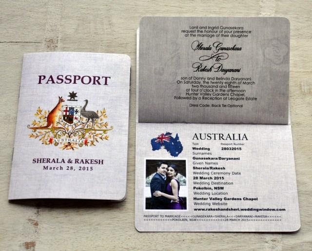Passport Wedding Invitations Passport Wedding Invitation Design Fee Australian Emblem Design