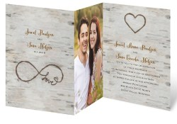 Personalized Wedding Invitations Love For Infinity Zfold Invitation Invitations Dawn
