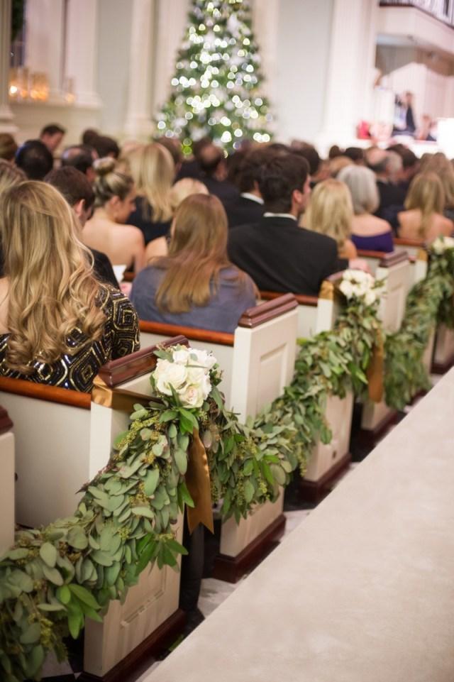 Pew Decorations For Weddings Ceremony Dcor Photos Garland Pew Decoration Inside Weddings