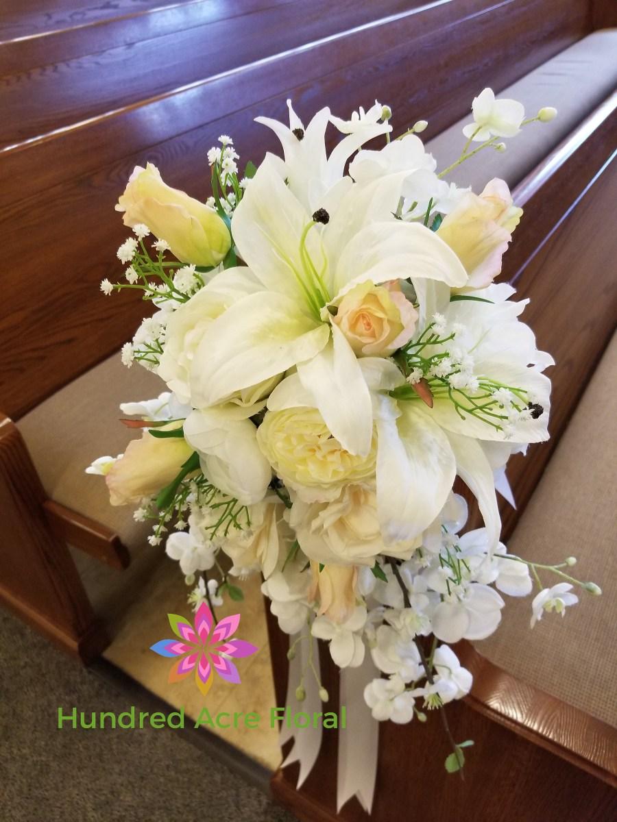 Pew Decorations For Weddings Wedding Pew Decorationschurch Wedding Decorationspew Etsy