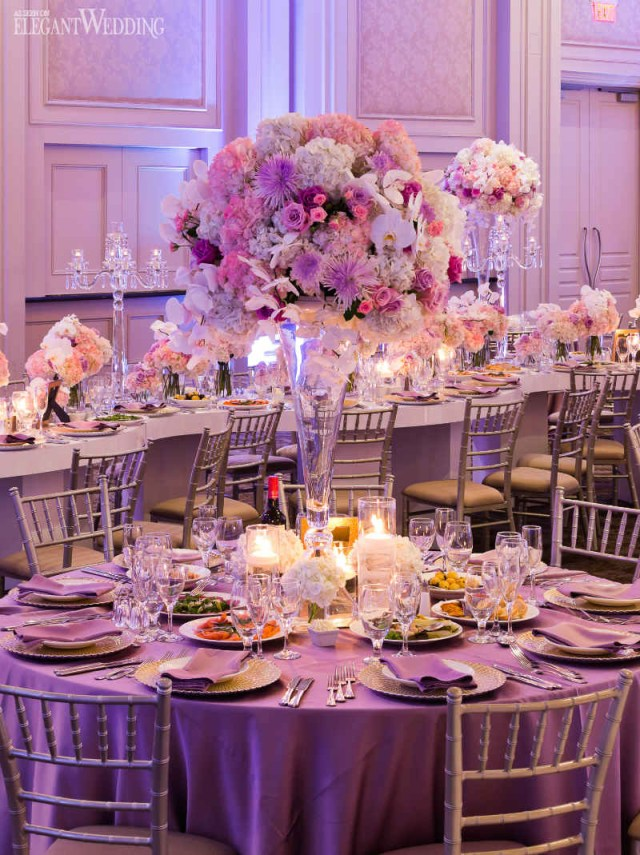 Pink Wedding Decorations Beautiful Pink And Purple Wedding Elegantweddingca