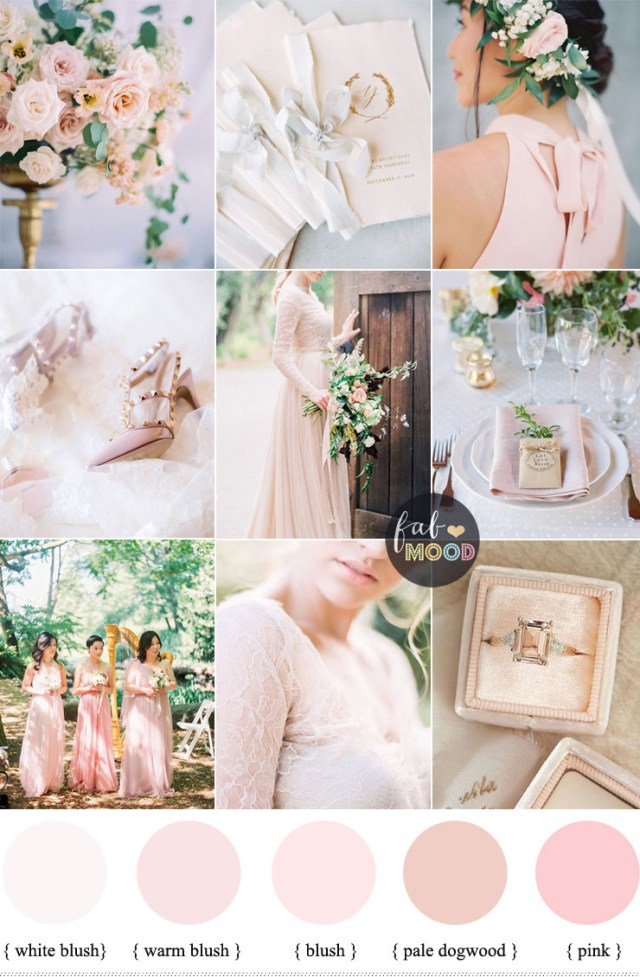 Pink Wedding Decorations Blush Pink Wedding Theme 36 Pretty Blush Pink Color Combinations