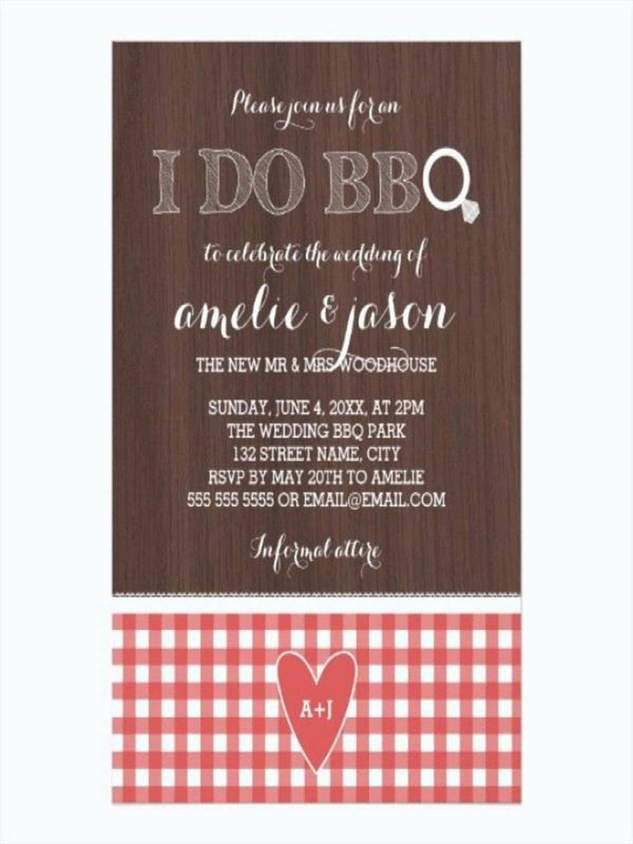 Post Wedding Party Invitations 206458 Post Wedding Party Invitations Rustic I Do Red Gingham Post
