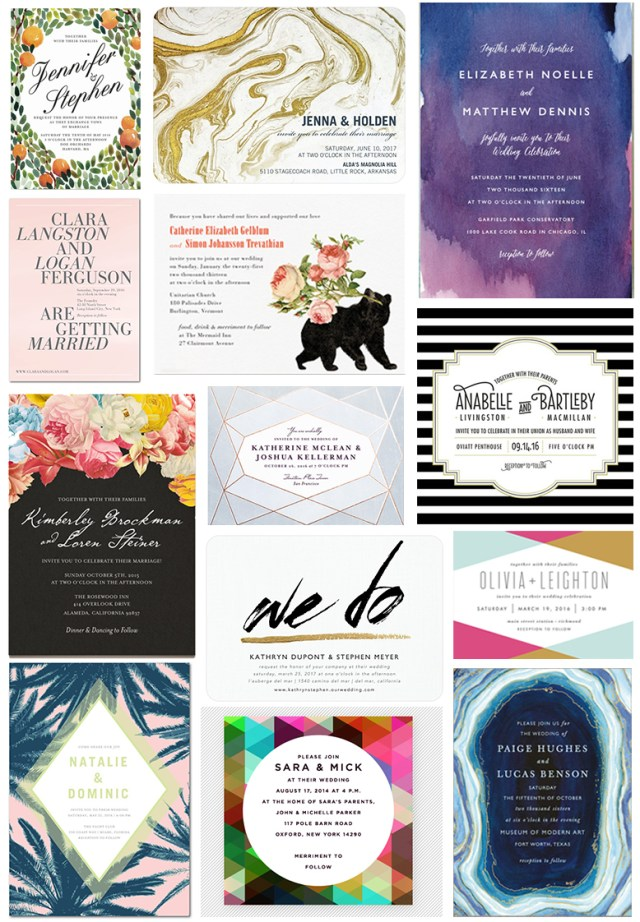 Print At Home Wedding Invitations 35 Stylish Wedding Invitations That You Can Actually Afford