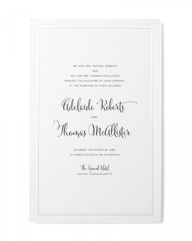 Print At Home Wedding Invitations Pearl Foil Border Print At Home Invitation Kit Gartner Studios