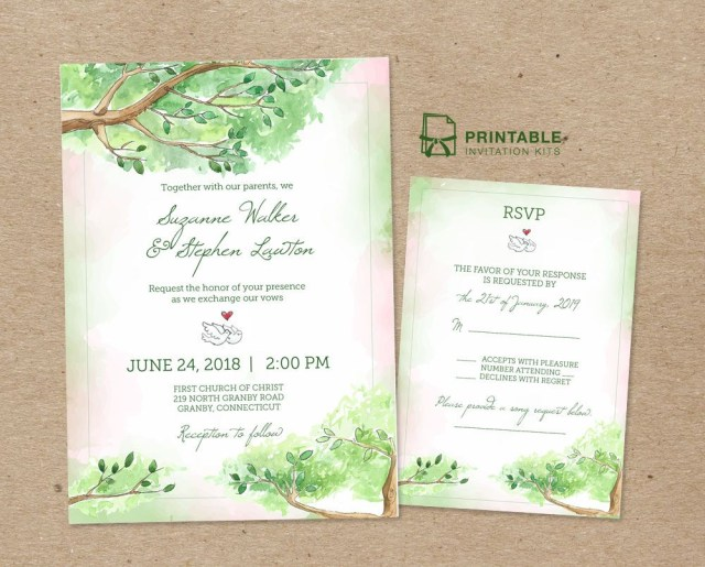 Print At Home Wedding Invitations Print Your Own Fairy Tale Wedding Invitation With Our Free Pdf