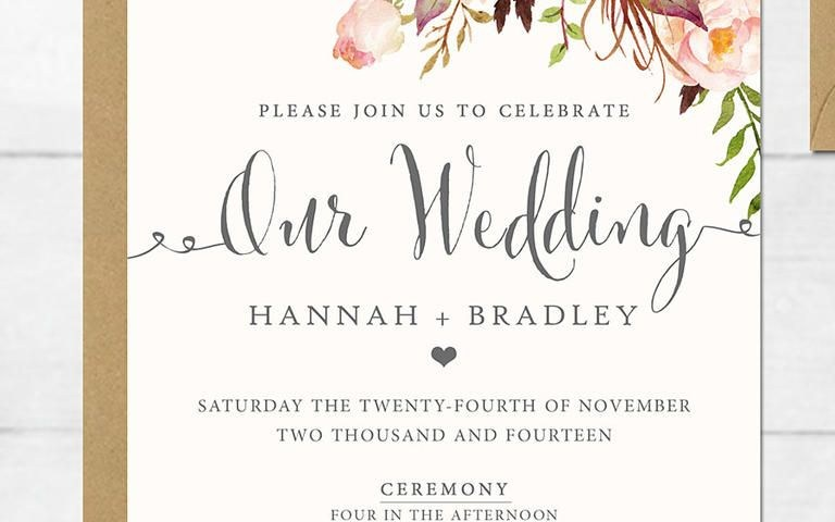 Printable Wedding Invitation 16 Printable Wedding Invitation Templates You Can Diy Future