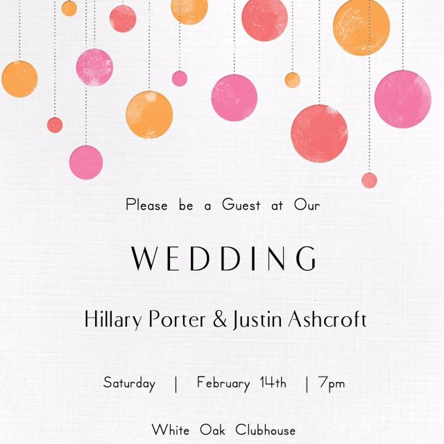 Printable Wedding Invitation Free Printable Wedding Invitations Popsugar Smart Living