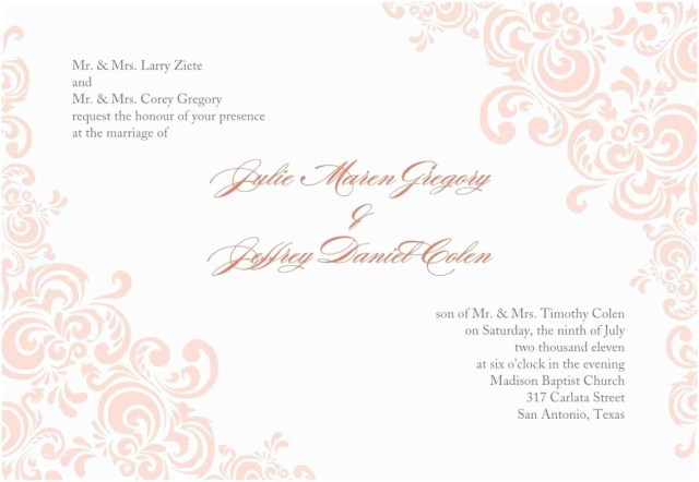 Printable Wedding Invitations Templates Free Wedding Invitation Templates Free Printable Wedding Invitation