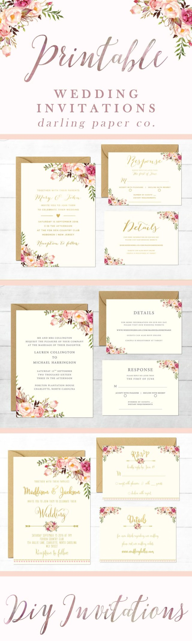 Printable Wedding Invitations Templates Printable Wedding Cards Elegant 215 Best Wedding Invitation