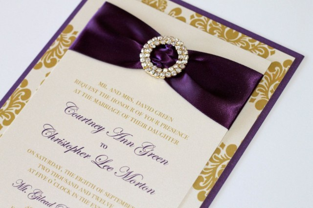 Purple And Gold Wedding Invitations Pin Tati On Wedding Pinterest Invitation Paper And Wedding
