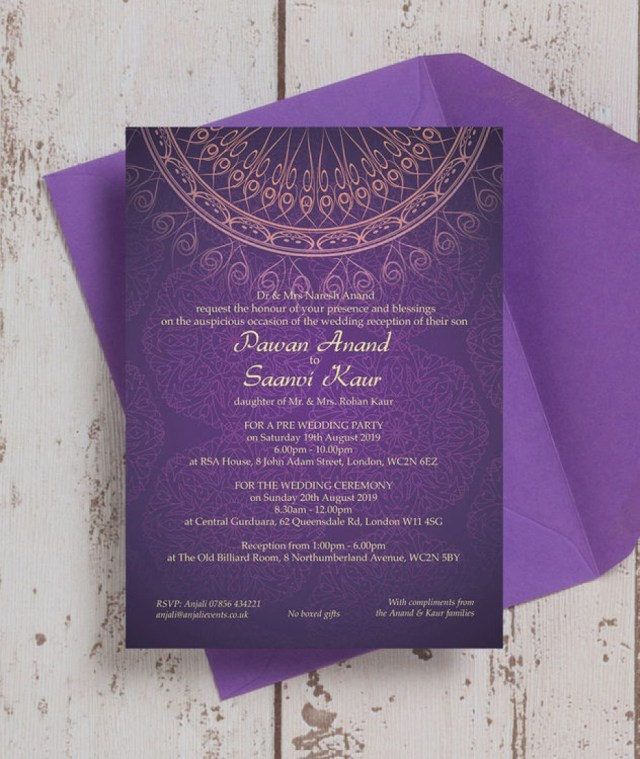 Purple And Gold Wedding Invitations Purple And Gold Wedding Invitations Elegant Purple Gold Indian