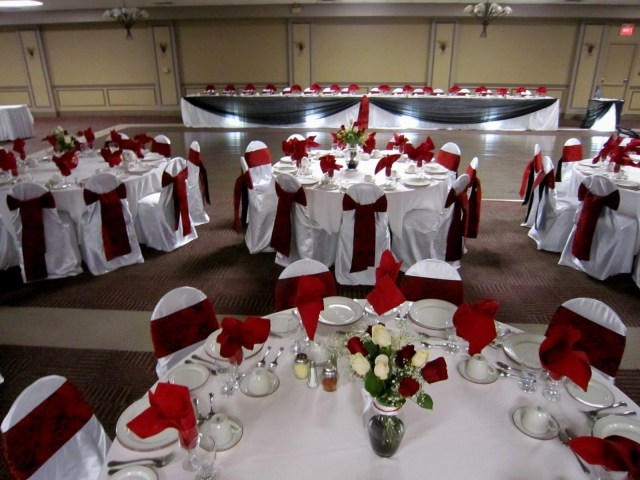 Red And Black Wedding Decorations Decorations Red And White Wedding Decoration Black Centerpieces