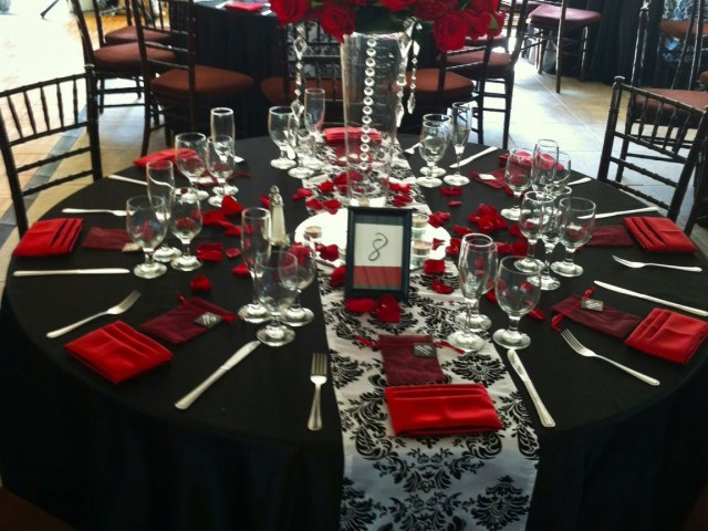 Red And Black Wedding Decorations Red White And Black Wedding Table Decorations Centerpieces Party