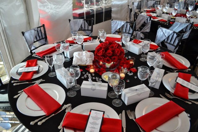 Red And Black Wedding Decorations Silver And Red Wedding Decorations Wedding Decor Silver Anniversary