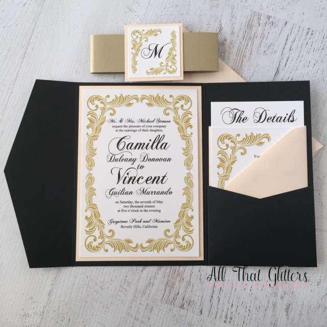 Retro Wedding Invitations Camilla Vintage Wedding Invitation Suite All That Glitters