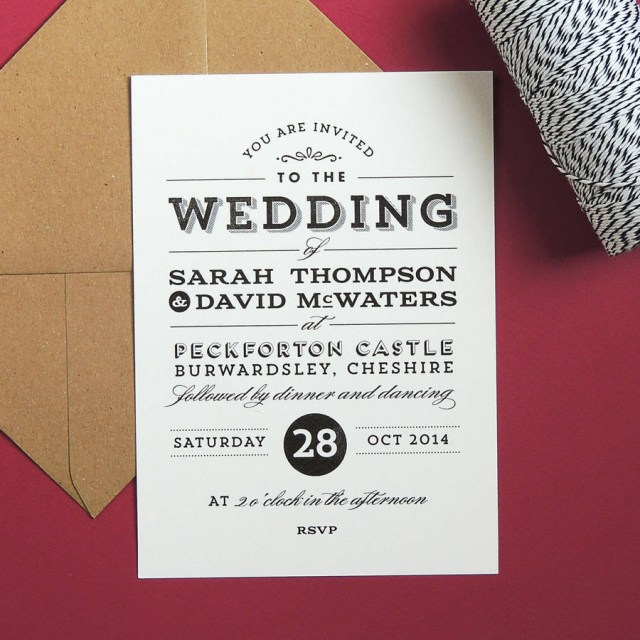 Retro Wedding Invitations Frankie Vintage Style Wedding Invitation Project Pretty