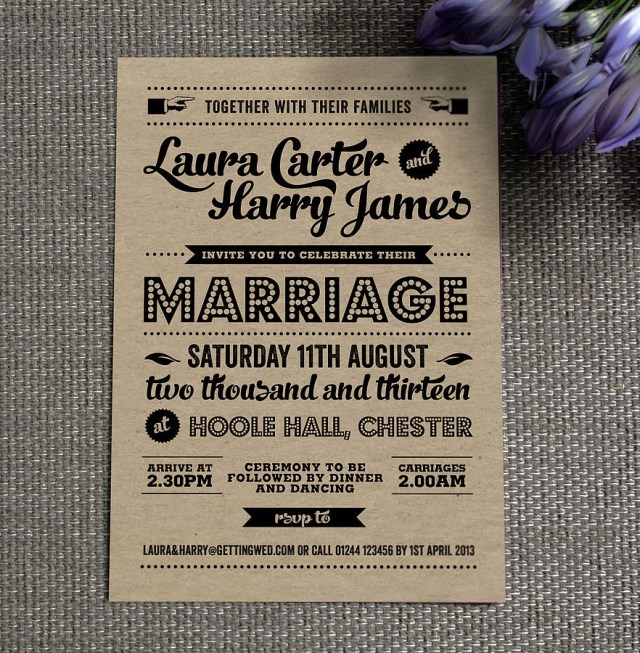 Retro Wedding Invitations Vintage Wedding Invitation Vintage Wedding Invitation For Wedding