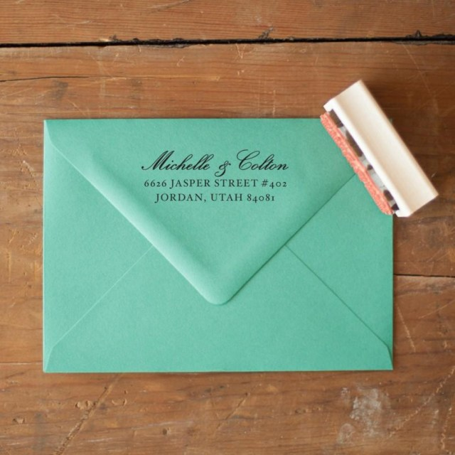 Return Address For Wedding Invitations Custom Return Address Stamp Wedding Invitation Stamp Rustic