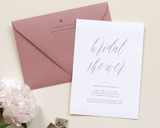 Rose Wedding Invitations Dusty Rose Wedding Invitations Tied Two