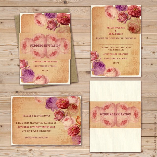 Rose Wedding Invitations Vintage Rose Garden Tea Party Wedding Invitations The Little