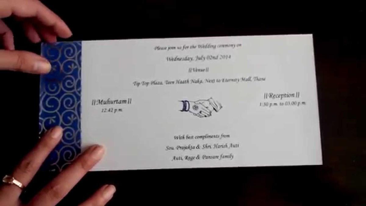 Royal Blue And Silver Wedding Invitations Wedding Invitation In Royal Blue And Silver Colour Youtube