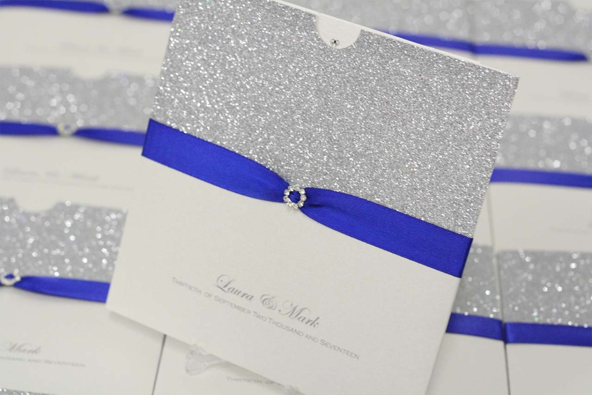Royal Blue And Silver Wedding Invitations Wedding Invitations Barrow Special Occasions