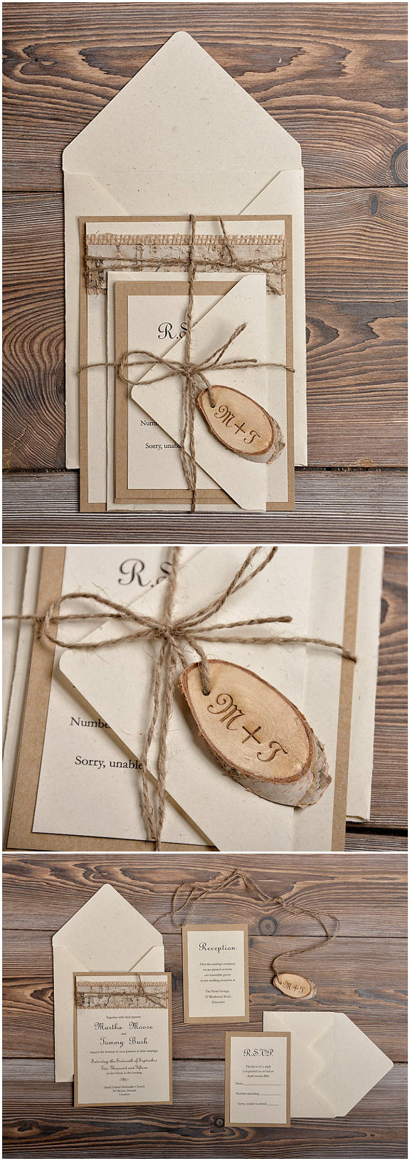 Rustic Wedding Invitation Kits Country Wedding Invites Invitations Rustic Lace Burlap And Birch