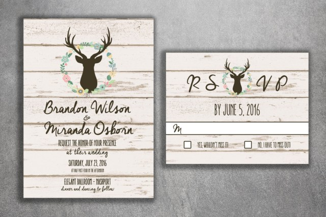 Rustic Wedding Invitations Cheap Deer Wedding Invitation Country Wedding Invitations Rustic Wedding