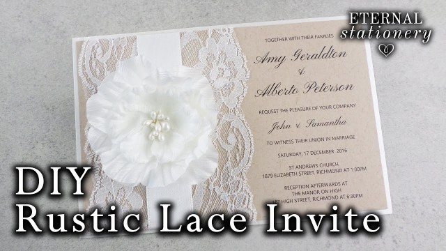 Rustic Wedding Invitations How To Make A Rustic Wedding Invitation Diy Invitations Youtube