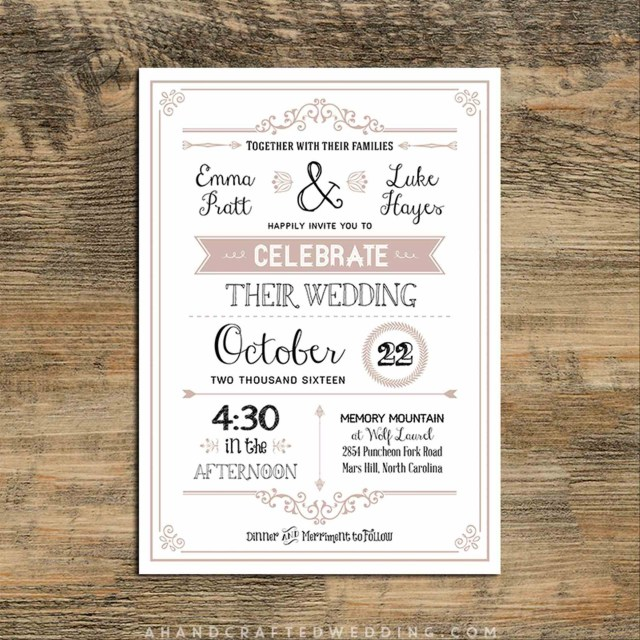Rustic Wedding Invitations Templates Printable Rustic Wedding Invitation Templates Download Them Or Print