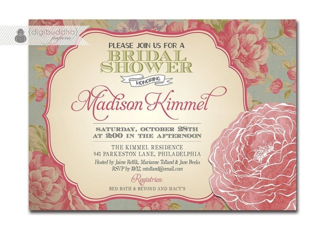 Rustic Wedding Shower Invitations Bridal Shower Invitations Etsy Template Resume Builder Elephant Ba