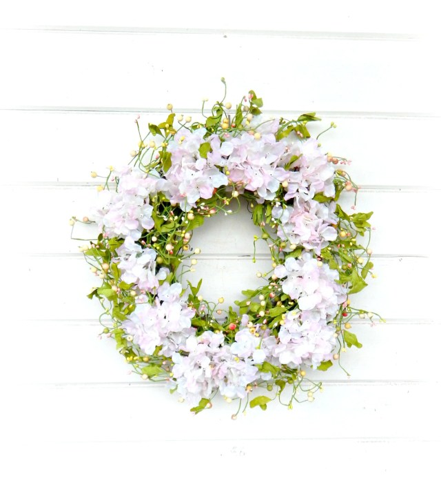 Shabby Chic Wedding Decorations Wedding Wreath Wedding Decor Hydrangea Wreath Shab Chic