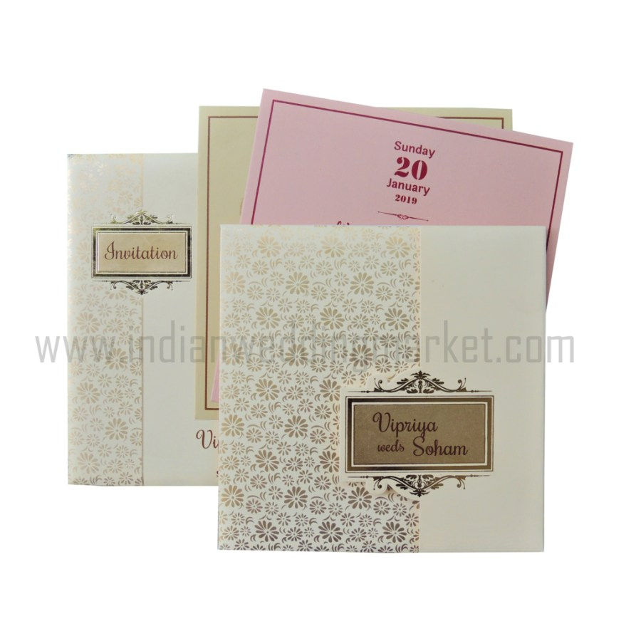 Sikh Wedding Invitations Designer Cream Color Sikh Wedding Card Imw 014