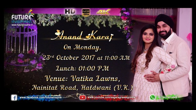 Sikh Wedding Invitations Harleen Weds Gurpreet Sikh Wedding Invitation Video Jashn E