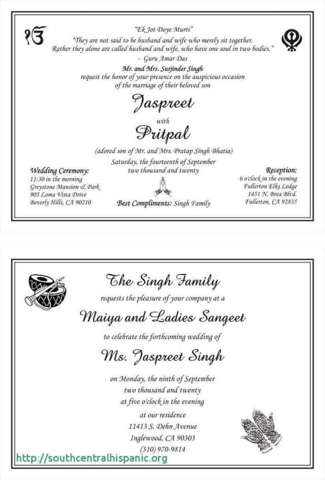 Sikh Wedding Invitations Wording For Sikh Wedding Invitations Nemetasaufgegabelt